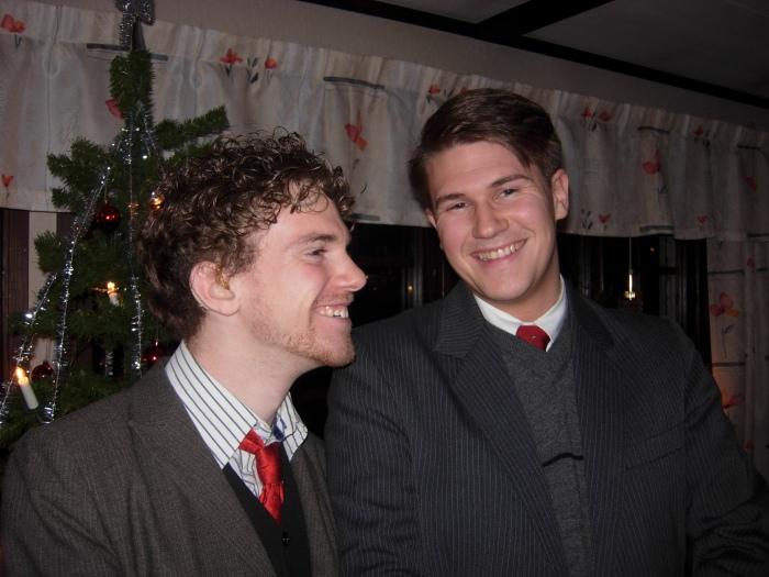 God jul önskar bröderna Dywik