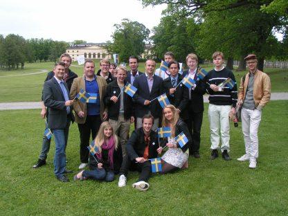 KDU:are och Drottningholm i bakgrunden