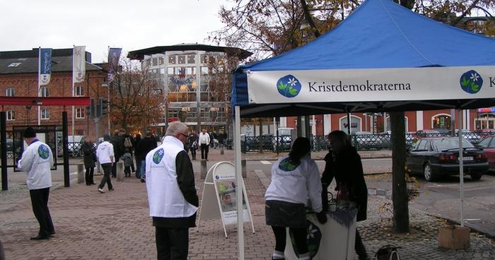 Kampanj mellan Kalmars gamla stadsmur och Baronen