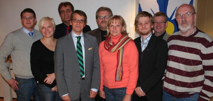 Kalmars Lokalavdelningsstyrelse med tillsammans med vår partiledare Göran Hägglund