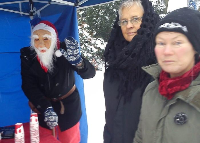 Jultomten, Ann-Mari Jeansson (KD) och en besökare